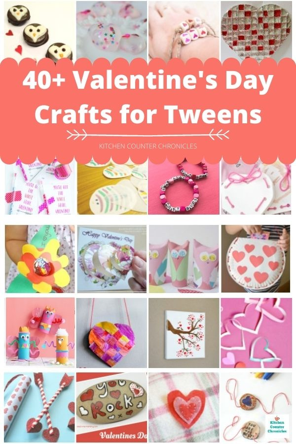 40 valentines day crafts for tweens to make collage of valentine's day crafts