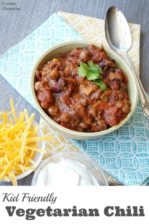 Kid Friendly Vegetarian Chilli