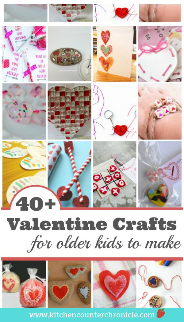 Gather up the craft supplies. These Valentine's Day crafts for older kids to make are a little more challenging and your tweens and teens are going to love them. #valentinesday #valentinesdaycraftsforkids #tweencrafts #hearts #craftsforkids #kidcrafts #craftsforolderkids
