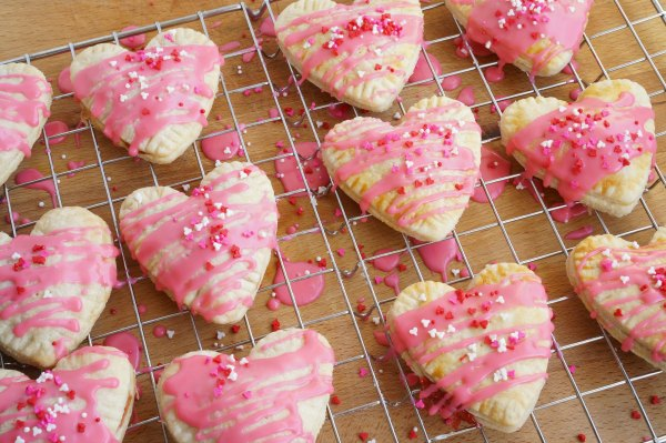 Valentine's Day strawberry tarts