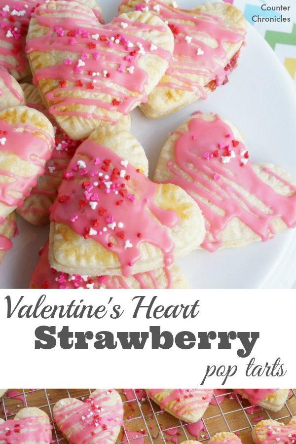 Valentine Heart Strawberry Pop Tarts