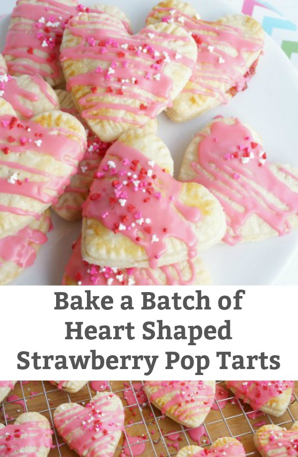 heart shaped pop tarts strawberry filled