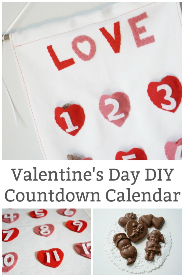 how to sew a valentine's day countdown calendar