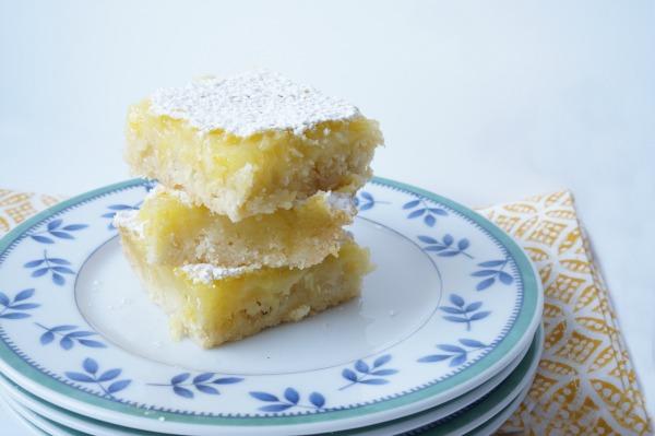 lemon bars on plate