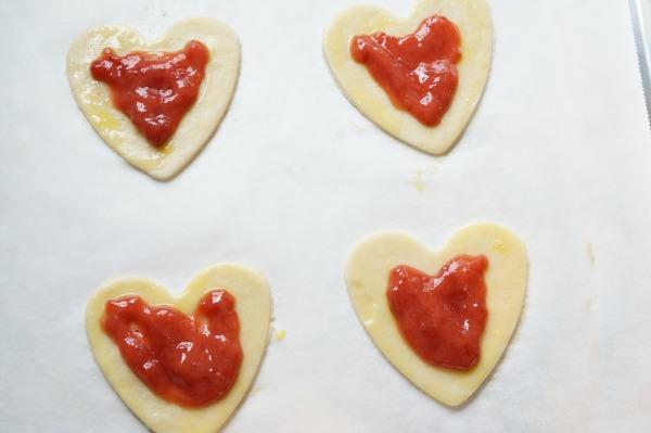 strawberry pop tart with jam