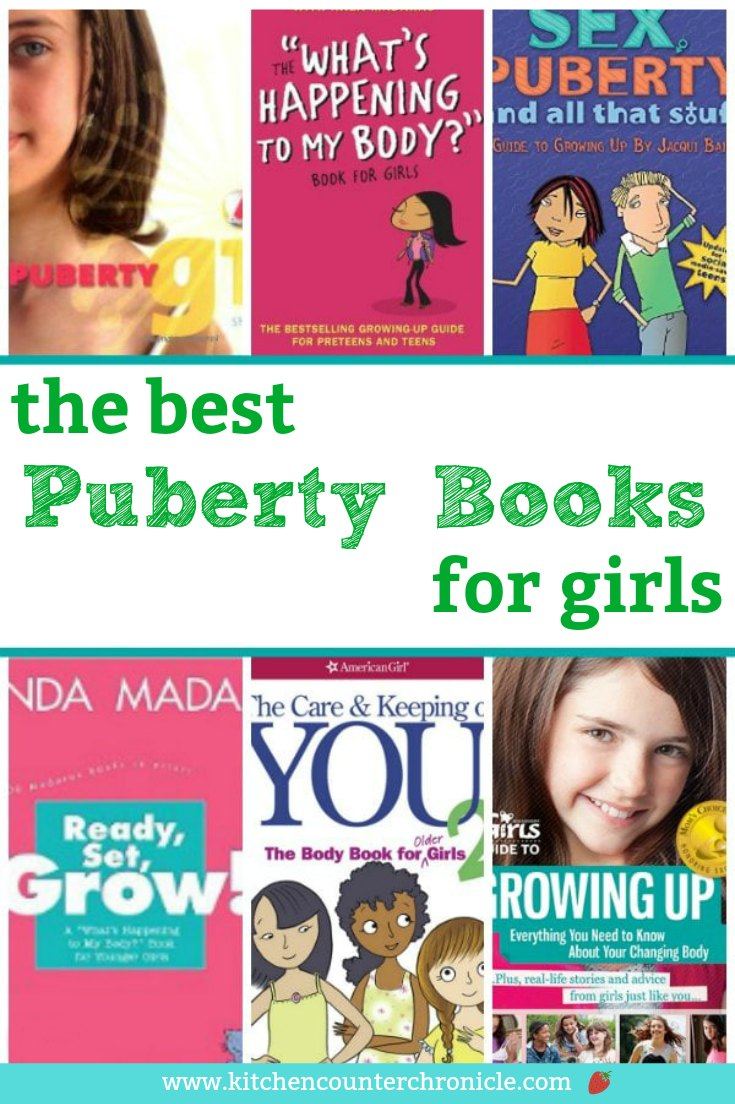 A collection of the best puberty for parents, teachers and growing girls. The easiest way to open up conversations about tough topics is with a good book. #puberty #booksforkids #pubertybooksforkids #parenting #booksfortweens #booksforgirls #pubertybooksfordaughter #tween #tweenparenting #parentingtips #parentingbooks #booksfortweenparents