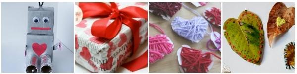 valentines for tweens to make nature crafts collage leaf hearts