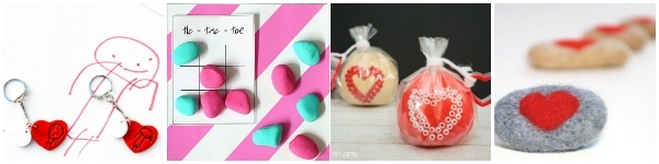 valentines day crafts for tweens collage rock tic tac toe play dough string hearts