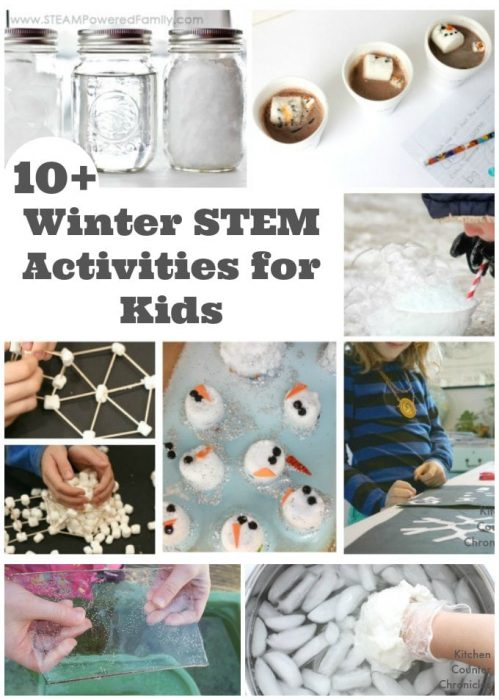 Awesome Winter STEM Activities for Kids - Have fun engaging kids with these winter STEM activities. Your kids will be asking questions, making observations and learning in a hands on way. | Winter Activities for Kids | Science for Kids | Winter Science |