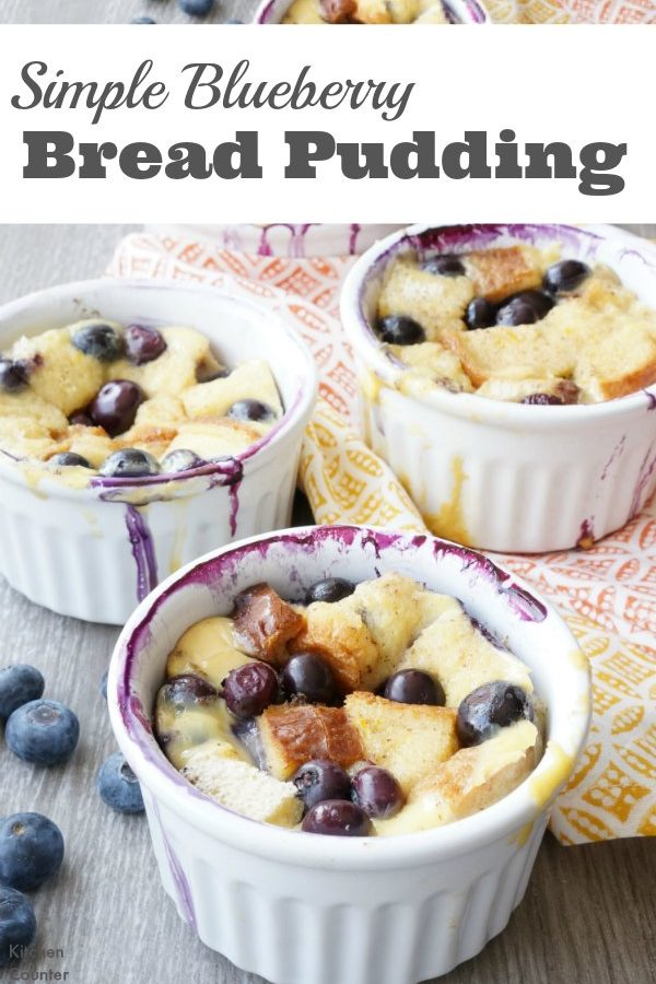 Beautiful Blueberry Bread Pudding