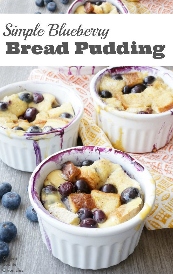 Blueberry Bread Pudding - Deliciously simple blueberry bread pudding recipe. A fabulous recipe for brunch and breakfast. | Brunch Recipe | Mother's Day Recipes | Blueberry Recipe |