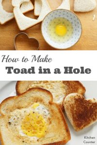How to Make Toad in a Hole - This simple recipe is a great recipe to teach kids. Get the kids in the kitchen with this step by step recipe. | Kids in the Kitchen | Egg Recipe | Simple Recipe | Breakfast Recipe|
