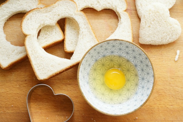 toad in hole with egg in bowl