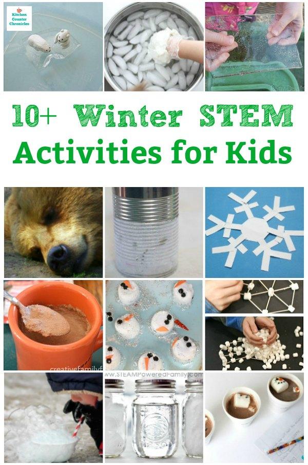 winter stem activities for kids