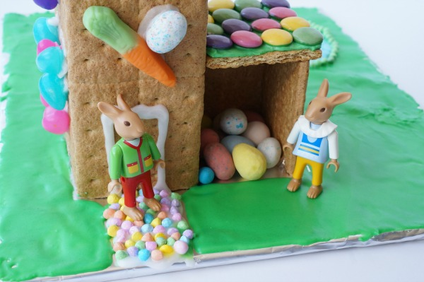 Easter Bunny House front door