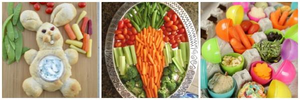 easter veggie platter