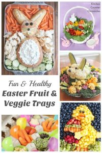 Fun and Healthy Easter Vegetable and Fruit Trays - Who said that a veggie tray has to be boring? Get creative this Easter with these fun inspiring ideas. | Healthy Eating for Kids | Vegetarian Kids | Easter Recipes | Easter Dinner Recipe | Vegetable Platter |