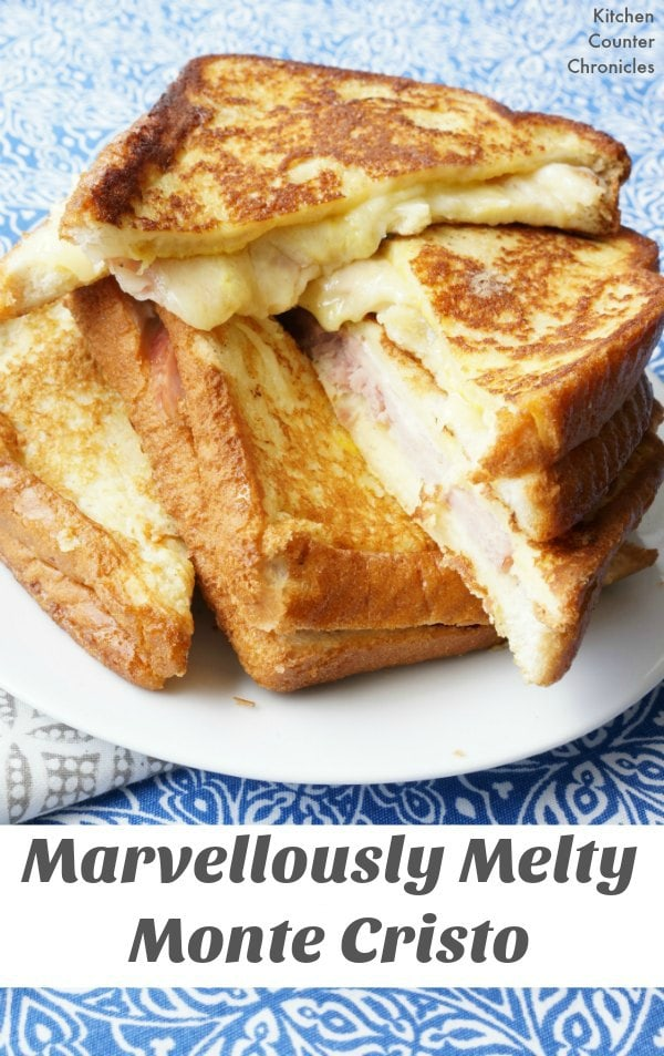 Marvellously Melty Monté Cristo Sandwich - Put those holiday ham leftovers to good use in a deliciously simple monté cristo sandwich. Smoked cheddar and ham goodness. | Ham Recipe | Sandwich Recipe | Easter Recipe | Leftovers Recipe |