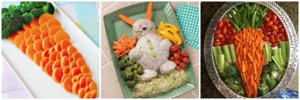 Easter Veggie Platters