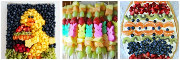 easter fruit platters