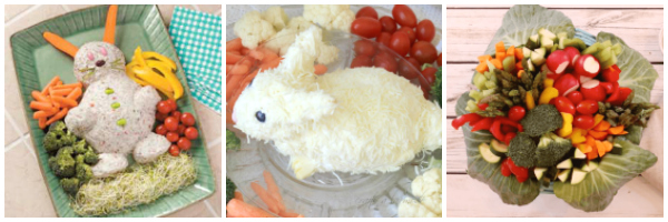 easter veggie trays