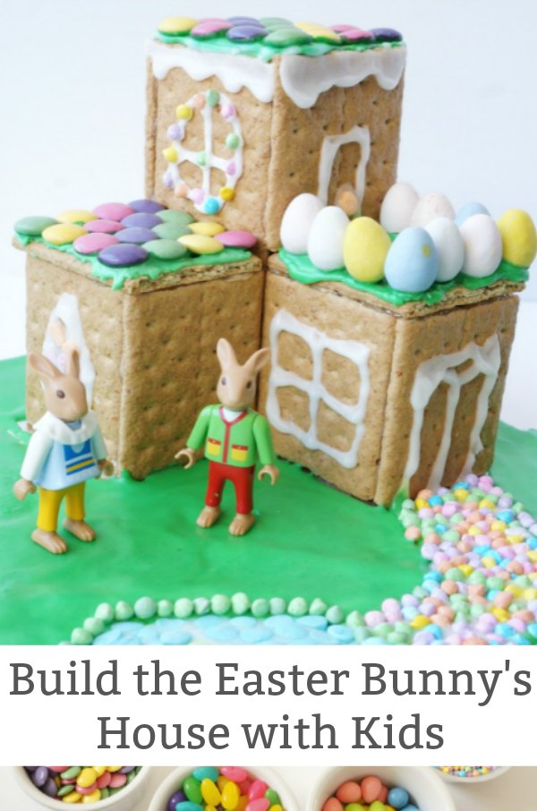 how to make an easter bunny house