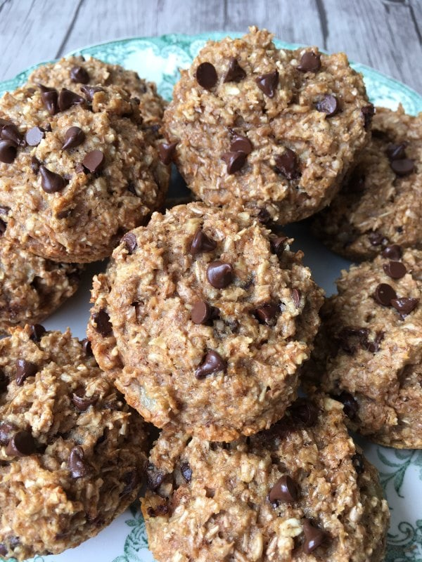 Banana Bran Chocolate Chip Muffin