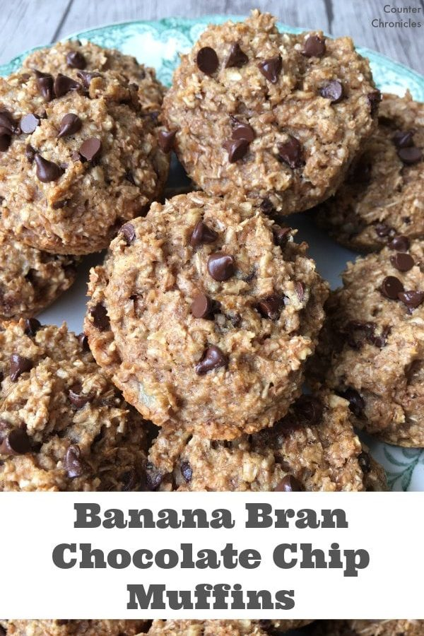 Banana Bran Chocolate Chip Muffins