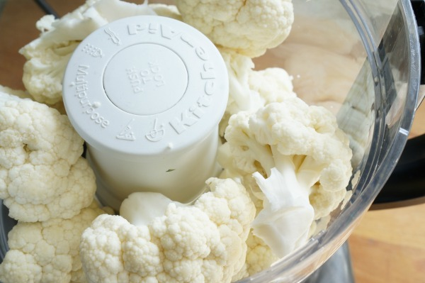 cauliflower in food processor