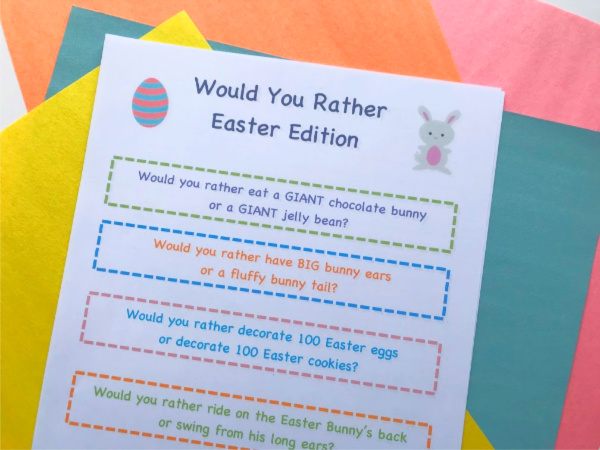 easter would you rather questions