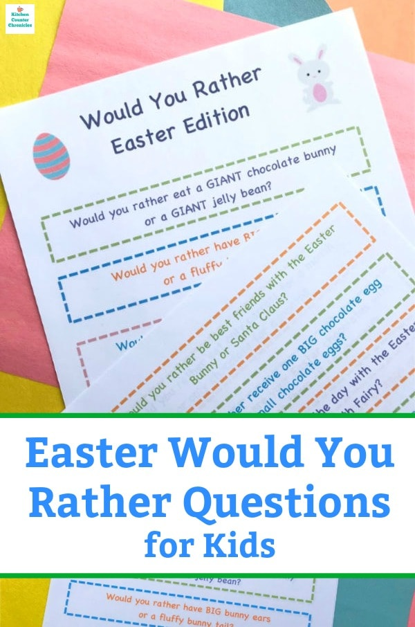 Easter would you rather questions for kids