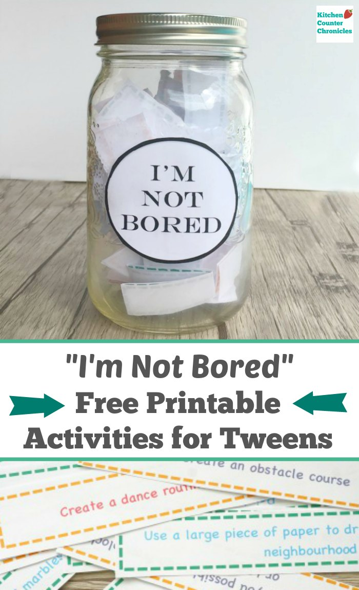 I 39 m bored activities for tweens free printable for Projects for tweens