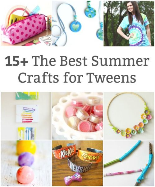 collection of summer crafts for tweens