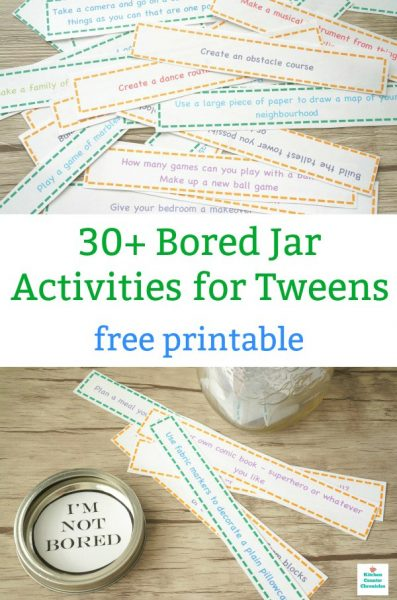 bored jar ideas for tweens