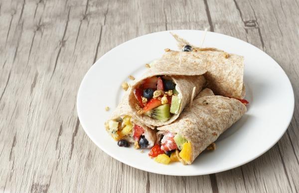 fruity breakfast wrap