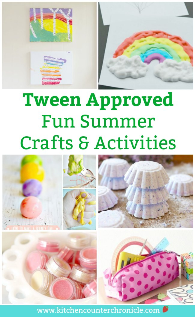 Not sure what to do with the tweens this summer? Check out this collection of summer crafts and activities for tweens. Totally tween approved! #tweencrafts #preteencrafts #olderkidcrafts #tweenactivities #tween #tweenartprojects #summerfunforkids #summeractivitiesforkids #summer #summercrafts