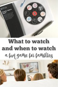 What to watch and when a fun game for families - End the debate of what to watch with this simple spinner game. | Netflix Hack | Parenting Tweens |