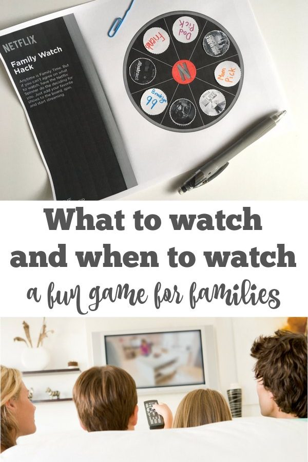 What to Watch and When – A Fun Game for Families #StreamTeam