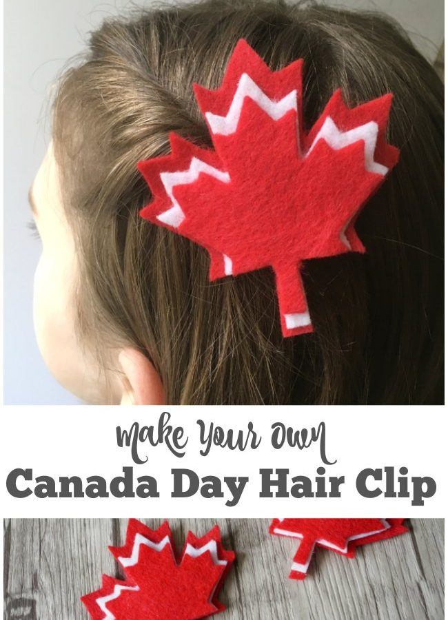 Make Your Own Canada Day Hair Clips for Kids