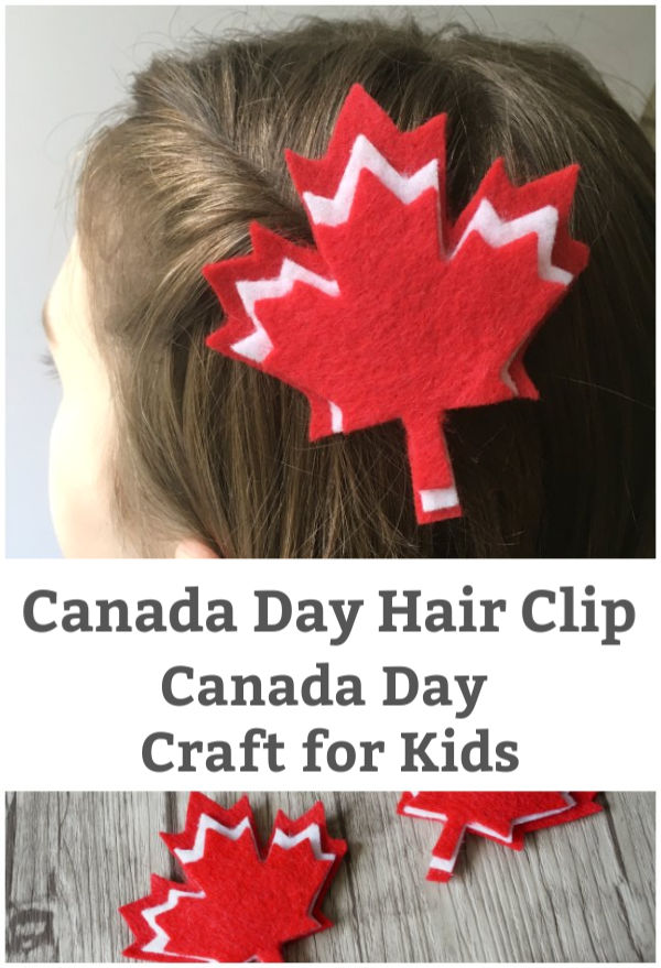 canada day crafts for kids canada hair clip