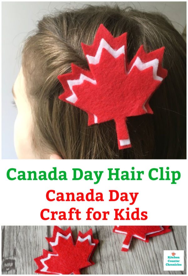 canada day craft for kids canada hair clip