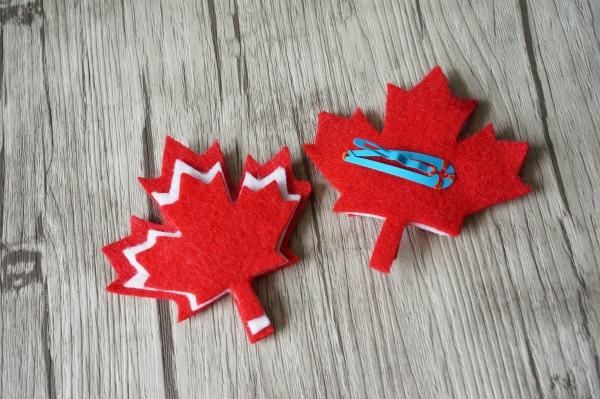 maple leaf hair clips
