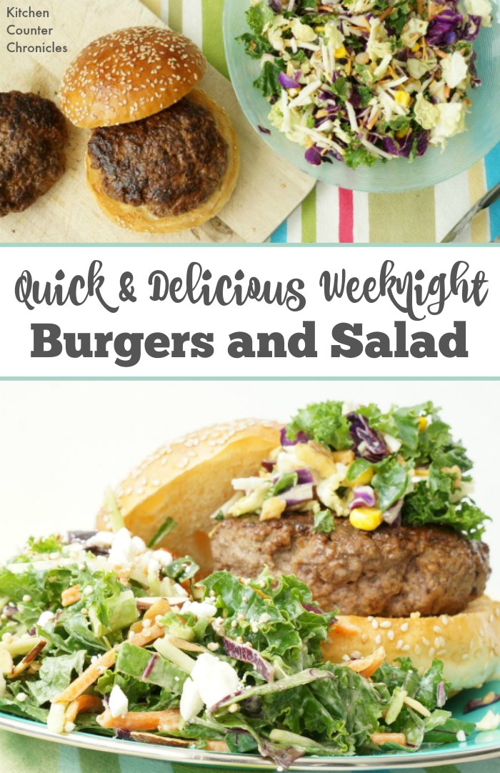 Quick and Delicious Weeknight Beef Burger and Salad Recipe - Eat healthy and delicious food even on a busy weeknight with this simple beef burger recipe and salad idea. | Family Recipes | Summer Recipe | Burger Recipe | Healthy Eating |