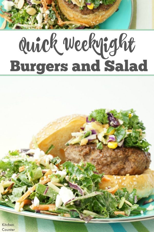 Super Simple Weeknight Burgers & Salad