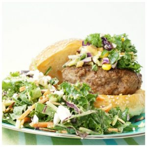 social quick weeknight burgers and salad