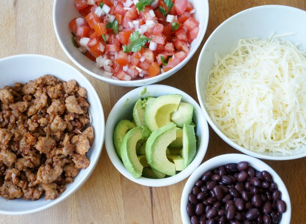 Toppings for breakfast nachos