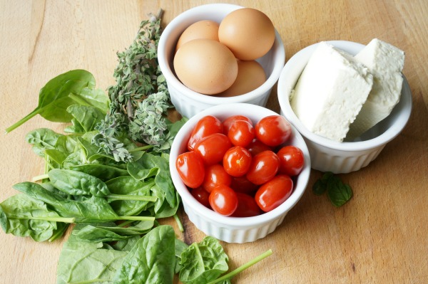 Greek scrambled egg ingredients