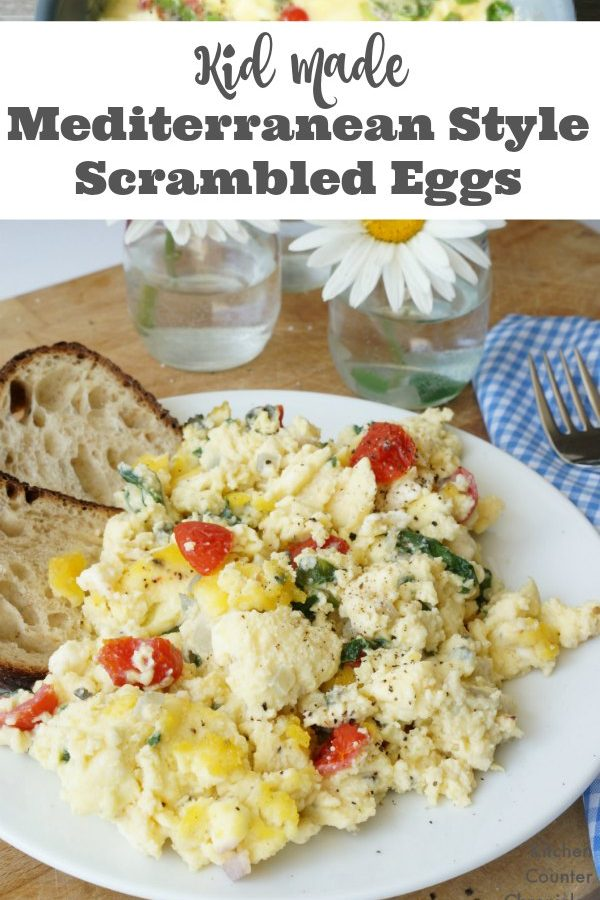 Kid Made Mediterranean Style Scrambled Eggs