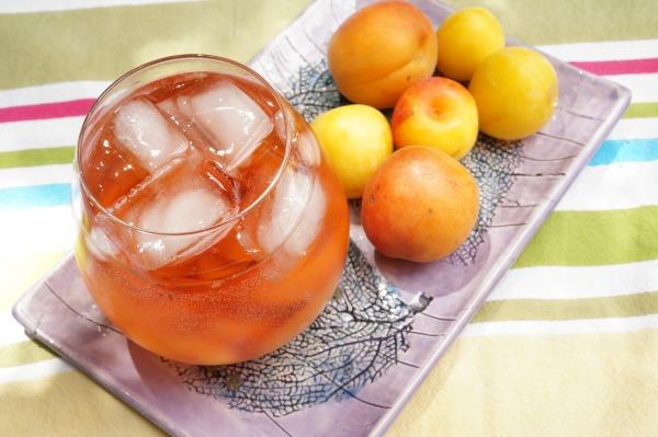 stone fruit rosé sangria spritzer