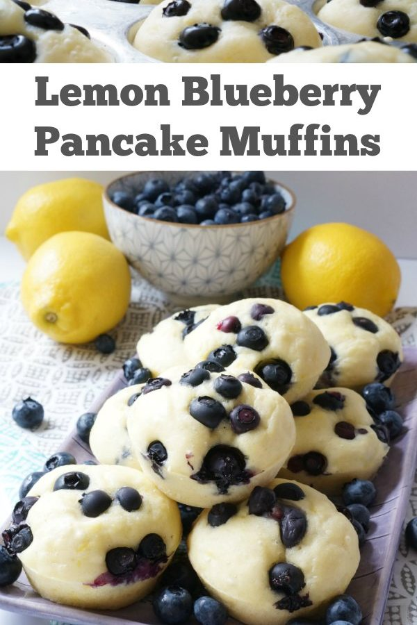 Simple Lemon Blueberry Pancakes - Bake up a batch of these simple pancake muffins on the weekend and the kids can enjoy them all week long. Bursting pops of blueberries make these a spectacular breakfast treat. | Family Breakfast Recipe | Blueberry Recipe | Pancake Recipe | Blueberry Pancake Recipe |